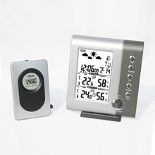 Wireless Weather Station Digital Humidity Temperature Sensor  Indoor Outdoor Pressure Wind Weather Forecast LCD Wall Clock