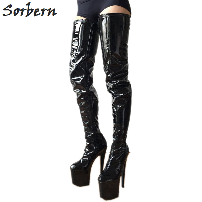 Sorbern 80Cm Crotch Thigh High Boots Women Tall Black Boots On Sale Trendy Ladies Boots Custom