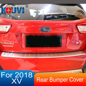 For 2018 Subaru XV GT7 GT3 Stainless Steel Rear Bumper Skid Protector Guard  Plate Cover Exterior Chromium Styling Accessories