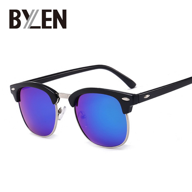 ed7384a29f4fe 2019 Classic Square Sunglasses Men Women Retro Brand Designer Summer Style  Sun Glasses Female Male Rivet Semi Rimless Shades