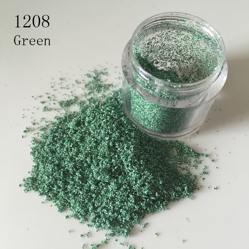 1X10g Dazzling Nail Art Sexy leopard granulated sugar Glitter Powder 3D Pigment Sequin Tips Green Dust Proof Nail Powder 1208