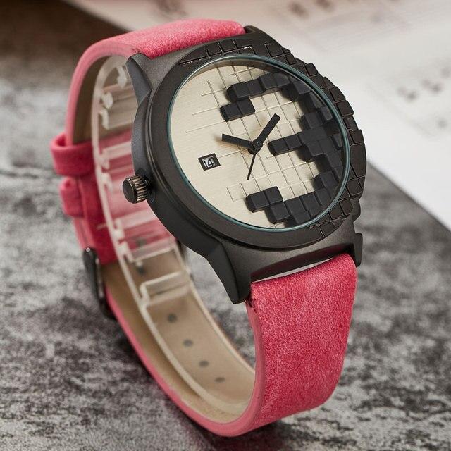 0e098fbab1d Novo Criativo Estilo de Design Minimalista Relógio Mens Três Dimensões  Digil Data Esporte Analógico relógio de