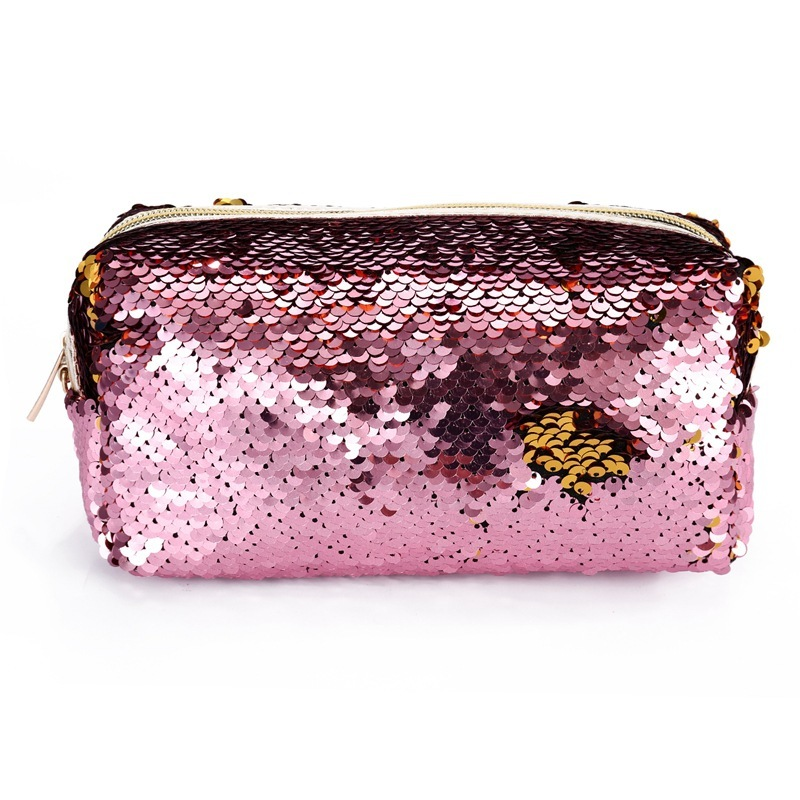 new Fashion Sequins Handbag Cosmetic Bag Female Zipper Cosmetics Bag Portable Travel Make Up Pouch Small Pouch Bag oswego brand bling sequins cosmetic bag zipper bag portable fashion small makeup bag cosmetic cases organizer travel toilet kit