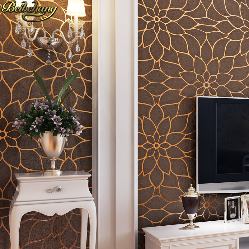 beibehang Modern Deer skin floral flowers papel de parede 3D wallpaper for Living room bedroom wall paper roll papel contact beibehang velvet modern damask feature papel de parede 3d wallpaper wall paper roll for living room bedroom tv backdrop