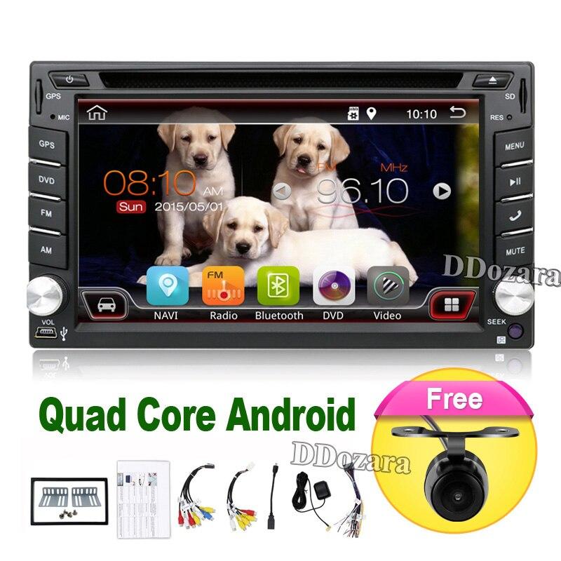 imágenes para 2 din android radio de coche grabadora de audio estéreo Para Universal 2din autoradio del coche dvd GPS de Navegación Volante Wifi Mapa