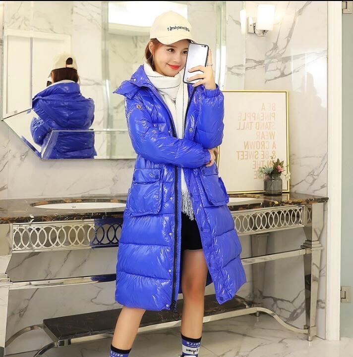 Femmes rouge Nouveau Femelle Long Bas gris Chaude Vers Lumineux Le Veste blanc Bleu Royal Hiver Mince Épais À Capuche Foncé Parka bleu 2019 Manteaux Slim Noir Taille Grand StPqfwdx
