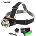 LOMOM 5w Built-in lithium battery rechargeable Headlamp High Power Strong Light Long Range Ultralight Waterproof Cheap Headlamp