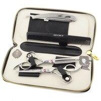 New Arrival 16 5cm Professional Salon Products Hair Scissors Straight Thinning Scissors Shears Comb Razor Set