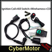 Wiring Loom Harness Kill Switch Ignition Coil AC CDI For 50 70 90 110 125 140 150 160 cc Engine Chinese Pit Dirt Bike Motorcycle