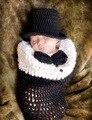 Bebê recém-nascido Meninas Meninos Crochet Knit Costume Foto Fotografia Prop Outfits roupas e acessórios 0-4 M do bebê Fotografia adereços