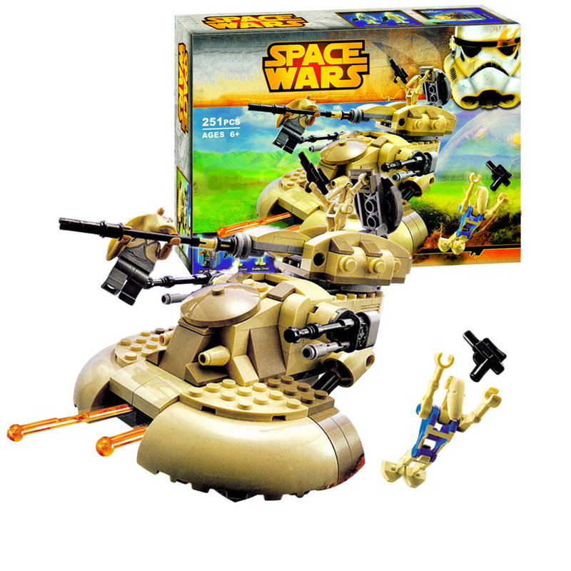 10371 StarWars AAT tank building bricks blocks Toys for children Game Weapon Weapon Model Compatible with logoinglys Star Wars image