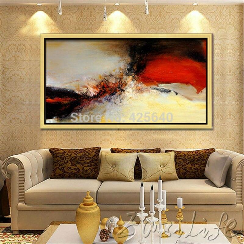 Decoracion moderna y barata cool saln moderno modelo with - Pinturas modernas para sala ...
