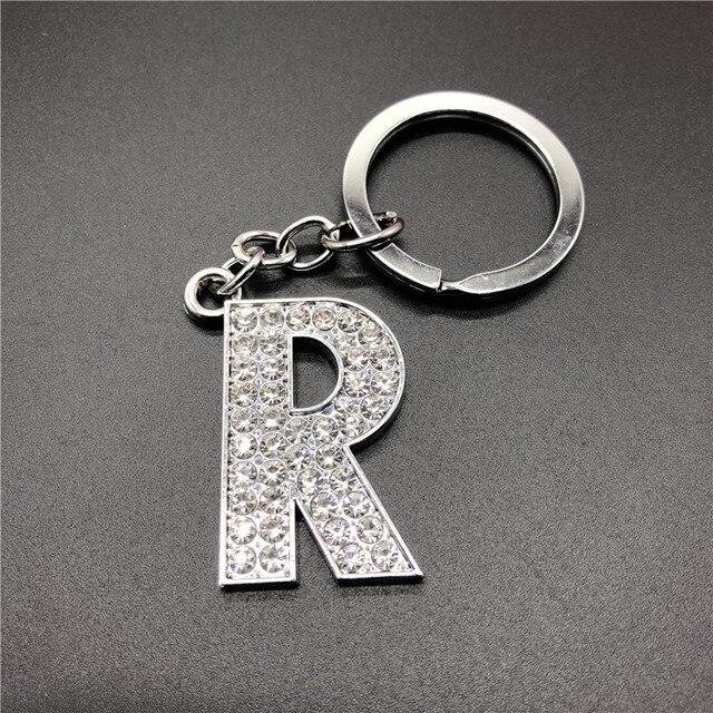 Carta de metal chaveiro R melhor amigo casal homem e mulher moda chave da cadeia de presente namorada namorado # RRR