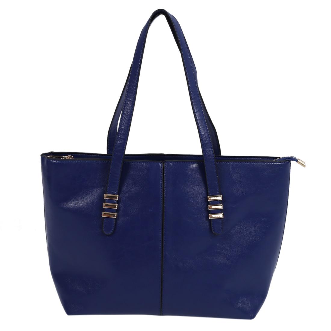 2015 Neue Förderung Frauen Pu Leder Handtasche Taschen Mode Frauen Schulter Tasche Große Tasche-tiefe Blau Herausragende Eigenschaften