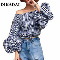 2017 Off The Shoulder Blouse Shirts Women Puff Sleeve Casual Summer S M Tops Female Plus