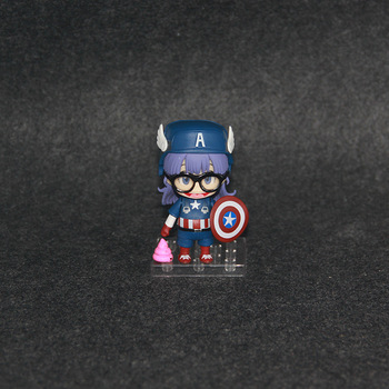 Nendoroid 10cm Japanese anime figure Q version Doctor Slump Arale cosplay Captain American Nendoroid action figure collectible model toys 1
