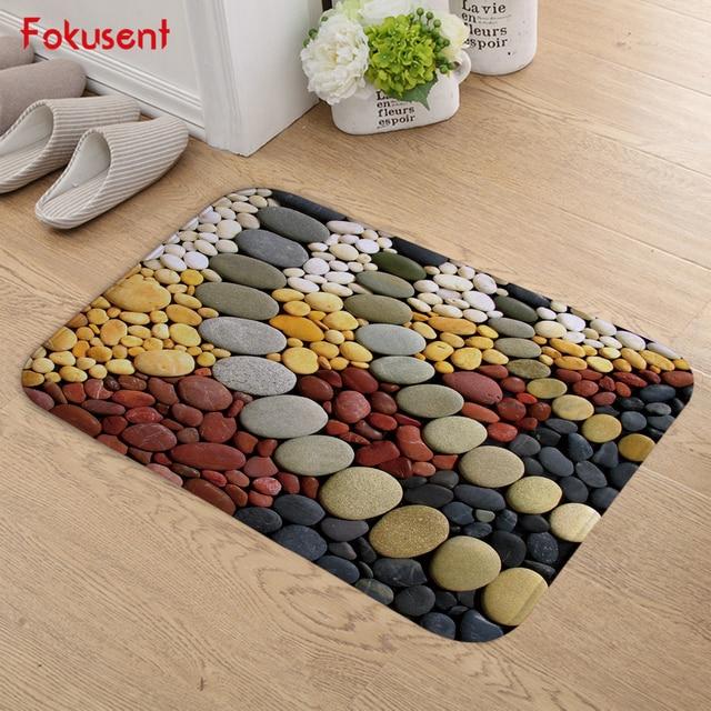 FOKUSENT Coloured Cobbles Welcome Indoor Doormat Floor Mat Kitchen Mats  Anti Slip Entrance Door Mats