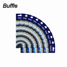 Buffle 100pcs/10packs AG5 393A LR754 15 193 LR48 D309 399 1.55V Button Cell Coin Batteries