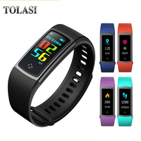 TOLASI Professional Sport Smart Watch IP67 Waterproof Color Screen Heart Rate Blood Pressure Fitness Bracelet For Men