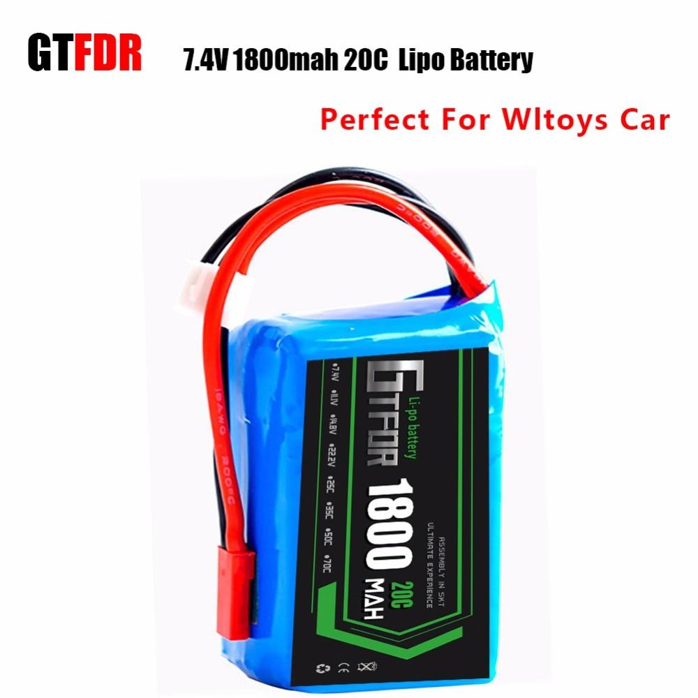 GTFDR Potenza WLtoys Wltoys A949 A959 A969 A979 K929 A959-b A969-b A979-b K929-B RC Auto Parts Aggiornamento batteria 7.4 V 1800 mah 20CGTFDR Potenza WLtoys Wltoys A949 A959 A969 A979 K929 A959-b A969-b A979-b K929-B RC Auto Parts Aggiornamento batteria 7.4 V 1800 mah 20C