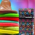 10 ШТ. цветные презервативы цвет 10 установлены презервативы оптовая Для женщин оргазм Возбужденных секс productssex игрушки