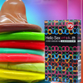 10 UNID colores condones 10 condones armarios de color al por mayor Para las mujeres Emocionado orgasmo juguetes sexuales productssex