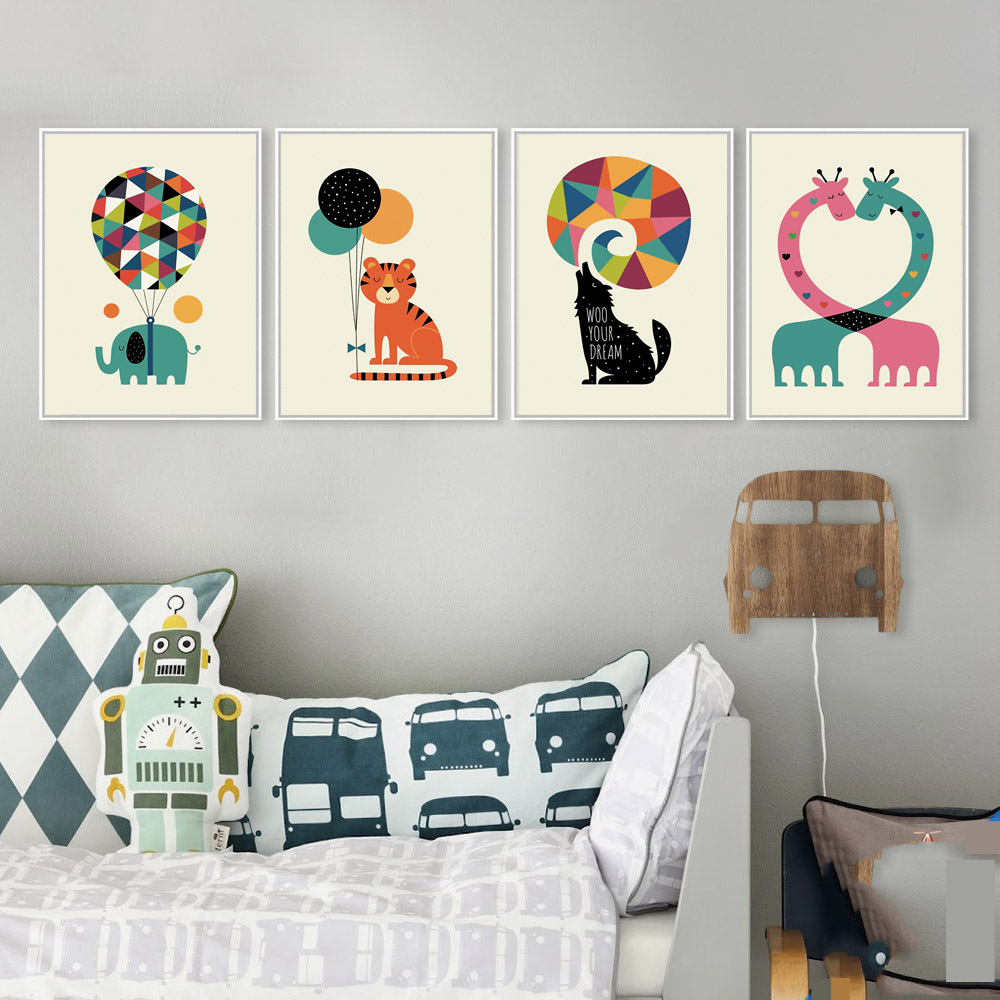 Modern abstract animal paintings elephant dog whale tiger wall modern abstract animal paintings elephant dog whale tiger wall stickers for kids rooms wall picture home decor canvas painting in painting calligraphy amipublicfo Gallery