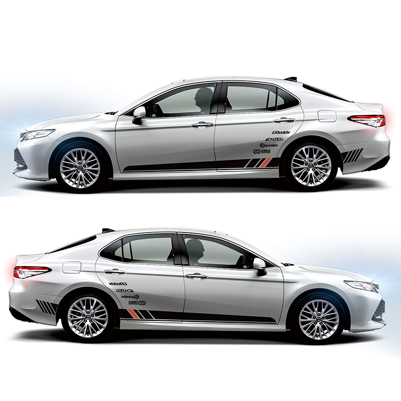Car Stickers Imtfoo Hybrid Stainless Steel Door Side Panel Molding Garnish For 2018 2019 Toyota Camry Accessories Car Styling