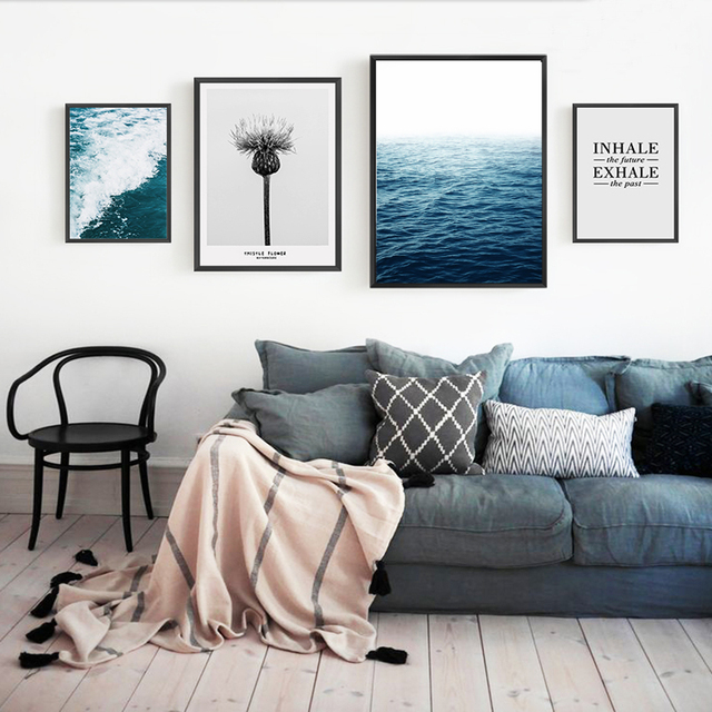 Bon Abstract Seascape Canvas Paintings Nordic Inspiring Posters And Prints Wall  Art Pictures For Kids Living Room