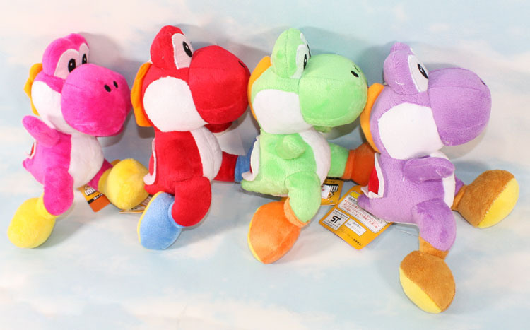 1pcs Super Mario Bros Running Yoshi Dragon Soft Plush Toy Doll 9colors Big size 21CM High Quality Toys Retail 1