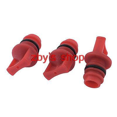 3pcs Air Compressor Spare Part 18mm Male Thread Plastic Oil Plug Red m m 13mm to 9mm male thread air compressor inline manual valve