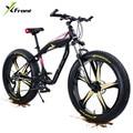 Рама X-фронтальная из алюминиевого сплава 4 0  широкая шина для жира  27 скоростей  масляный дисковый тормоз  горный  снежный  пляжный велосипед...