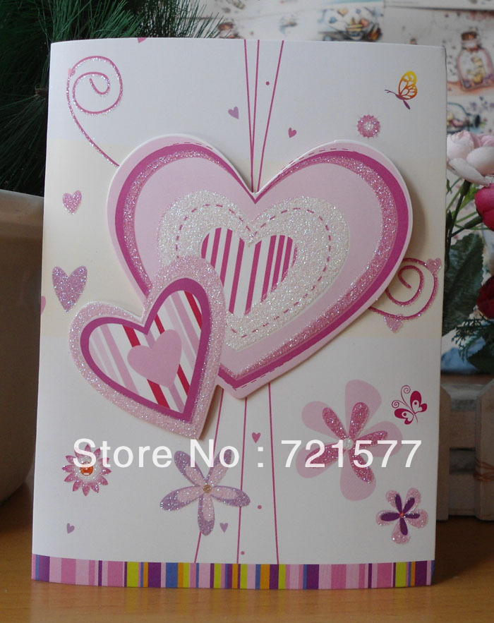 aliexpress  buy korea creative peach heart shape with three, Greeting card