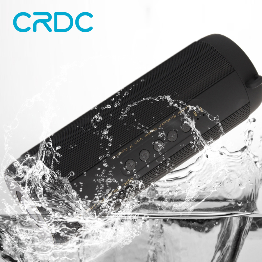 CRDC Wireless Bluetooth Speaker Waterproof Portable Outdoor Mini Bicycle Speaker Column Box Stereo TF FM Radio for Xiaomi MP3 tronsmart element t6 mini bluetooth speaker portable wireless speaker with 360 degree stereo sound for ios android xiaomi player