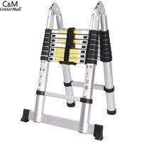 Ancheer 5M 16 steps Multipurpose Aluminum Alloy Double Ladder Telescopic Style Folding Extenable Ladder
