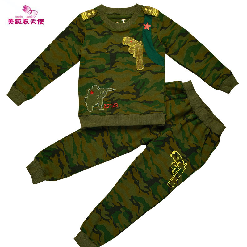 Boys Camouflage Sports Suits 2017 Spring Autumn Cotton Boys Long Sleeve Sportswear 2 Pcs Children Clothing 4 6 8 10 12 13 Years boys camouflage sports suits 2017 new autumn cotton boys long sleeve sportswear 2 pcs set children clothing 3 5 7 9 11 14 y 6
