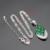 Ashley Prata Conjuntos de Jóias Para As Mulheres de Cor Verde Esmeralda Criado Branco CZ Pingente de Colar Brincos Anéis Caixa de Presente Livre