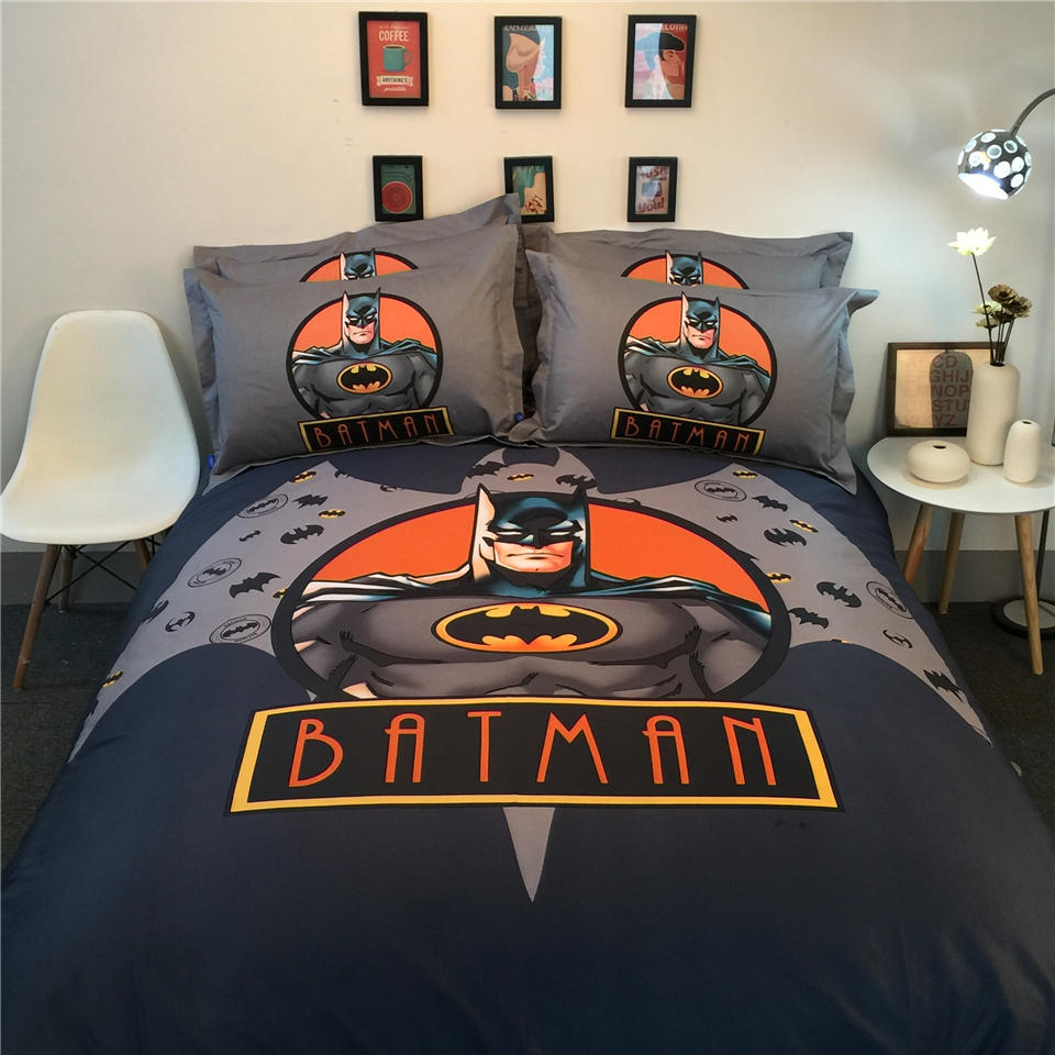 Bat Man 3D Printed Bedding Bedspreads Bed Sets Single Twin Full Queen King  Size Babys Boyu0027s