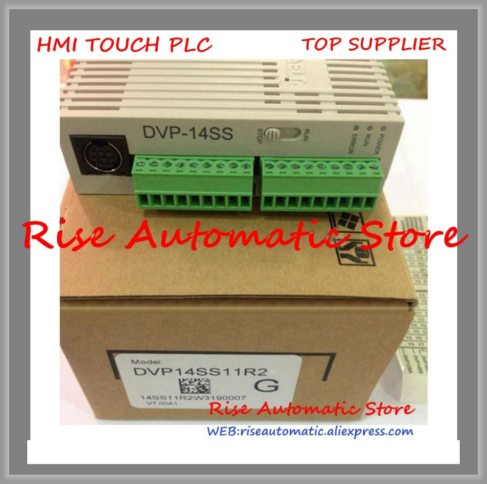 New Original SS2 series PLC DVP14SS11R2 24VDC 8DI 6DO relay Standard new kinco k504 14dr plc cpu dc21 6 28 8v power supply 8di 6do relay