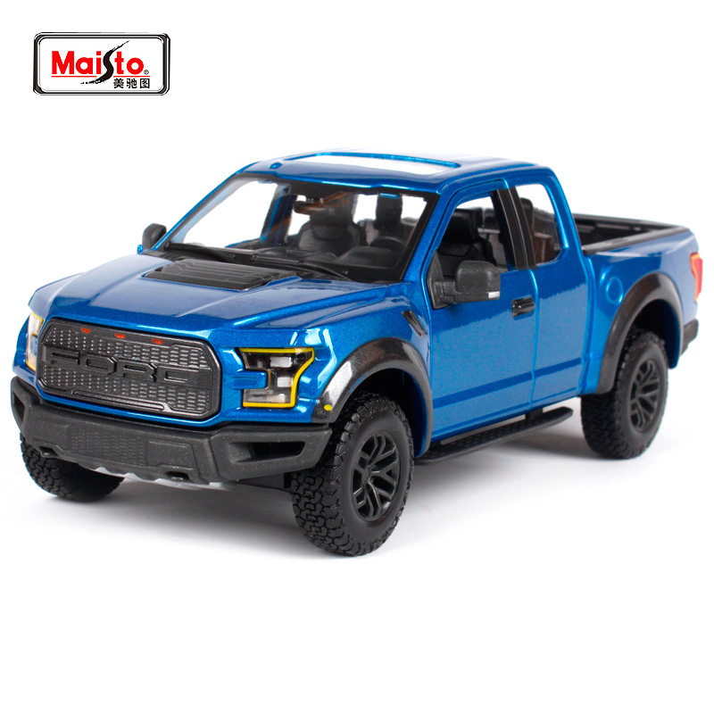 Maisto 1:24 SE TRUCK OFF ROAD 2017 FORD F-150 F150 RAPTOR Pickup Diecast Model Car Toy New In Box Free Shipping 31266 maisto 1 24 2017 white blue silver f 150 partor pick up truck model for ford big emulation pick up car diecast for ford 31266