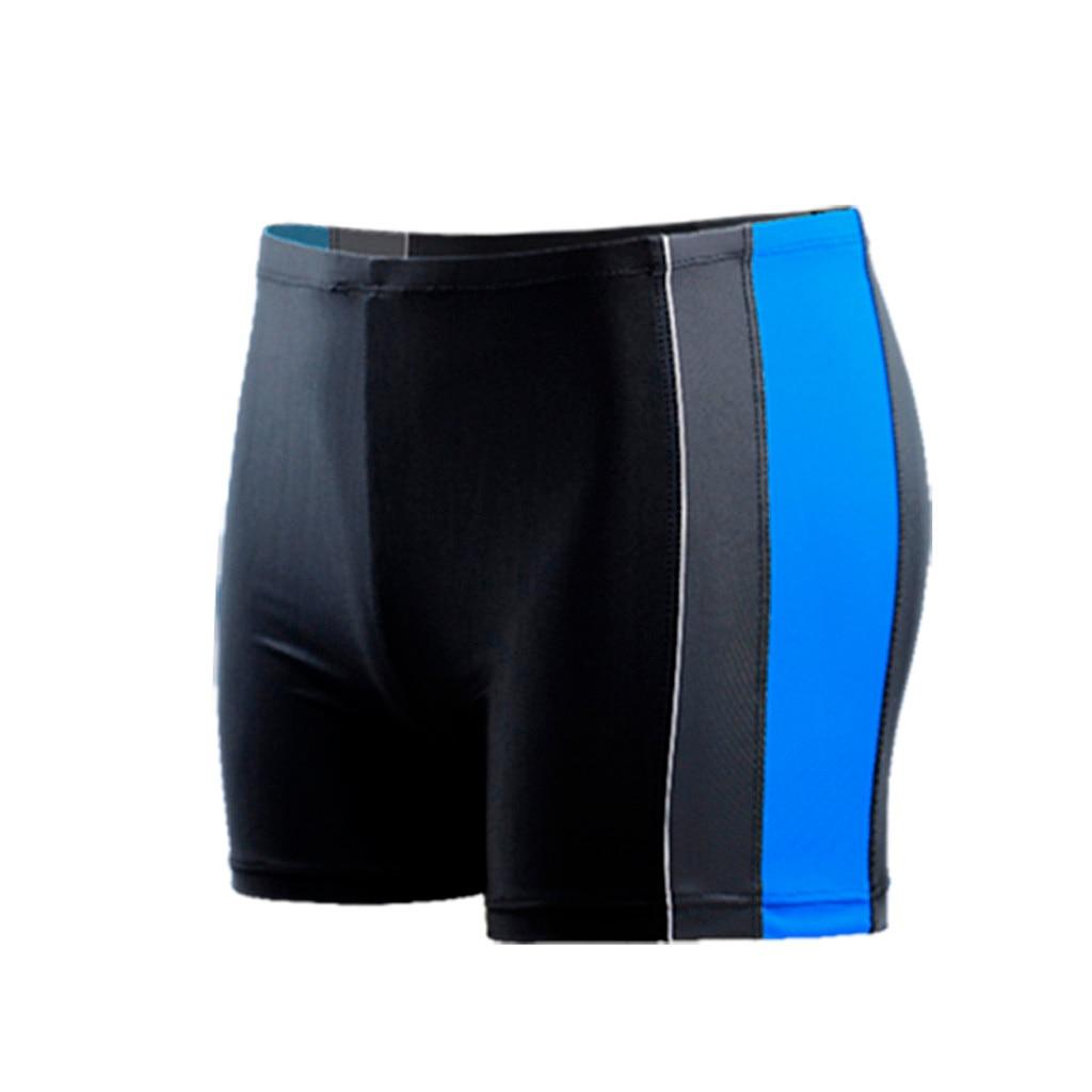 Мужские короткие плавки, быстросохнущие, пляжные, в полоску, для бега, для плавания, для мужчин, maillot de bain, для плавания, короткие,#4 - Цвет: Light blue