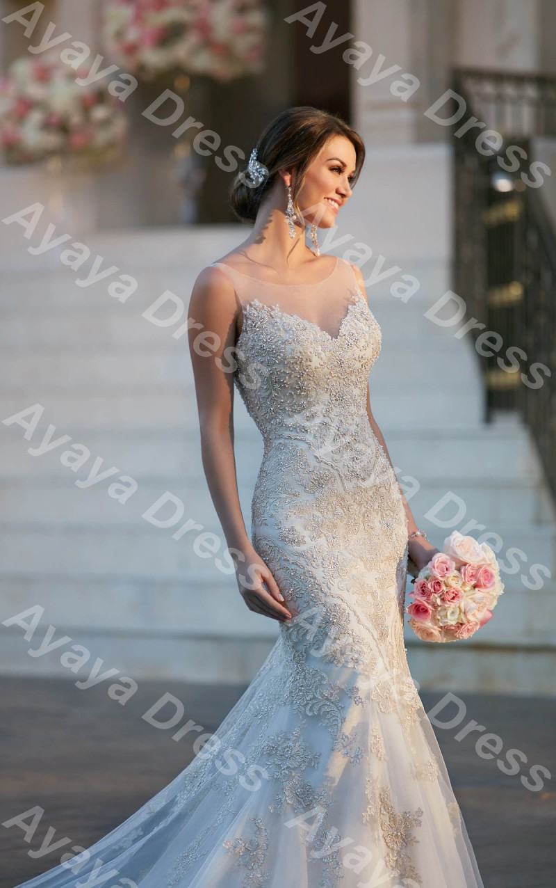 Lace Mermaid Wedding Dresses with Bling – fashion dresses