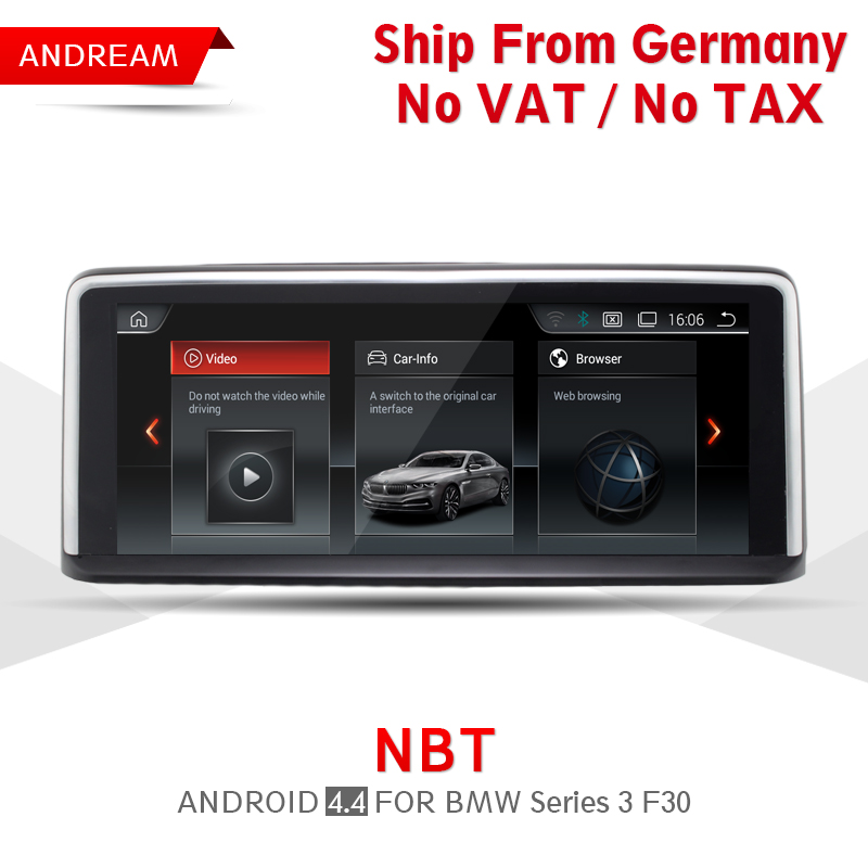 10.25 Quad Core Android 4.4 Vehicle multimedia player Germany Ship For BMW Series 3 F30 Bluetooth gps navigation Wifi EW960A