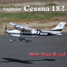 Радиоуправляемый самолет FMS 1400 мм 1,4 м воздушный тренировочный Cessna 182 на синий 5CH с клапанами светодиодный PNP EPO масштабная модель самолет Avion Начинающий
