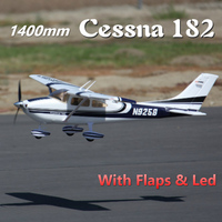 FMS RC Airplane Sky Trainer Cessna 182 1400MM 1.4M AT Blue 5CH with Flaps LED PNP EPO Scale Model Plane Aircraft Avion Beginner