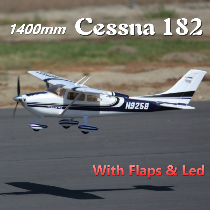 FMS <font><b>RC</b></font> Airplane 1400MM 1.4M Sky Trainer <font><b>Cessna</b></font> <font><b>182</b></font> AT Blue 5CH with Flaps LED PNP EPO Scale Model <font><b>Plane</b></font> Aircraft Avion Beginner image