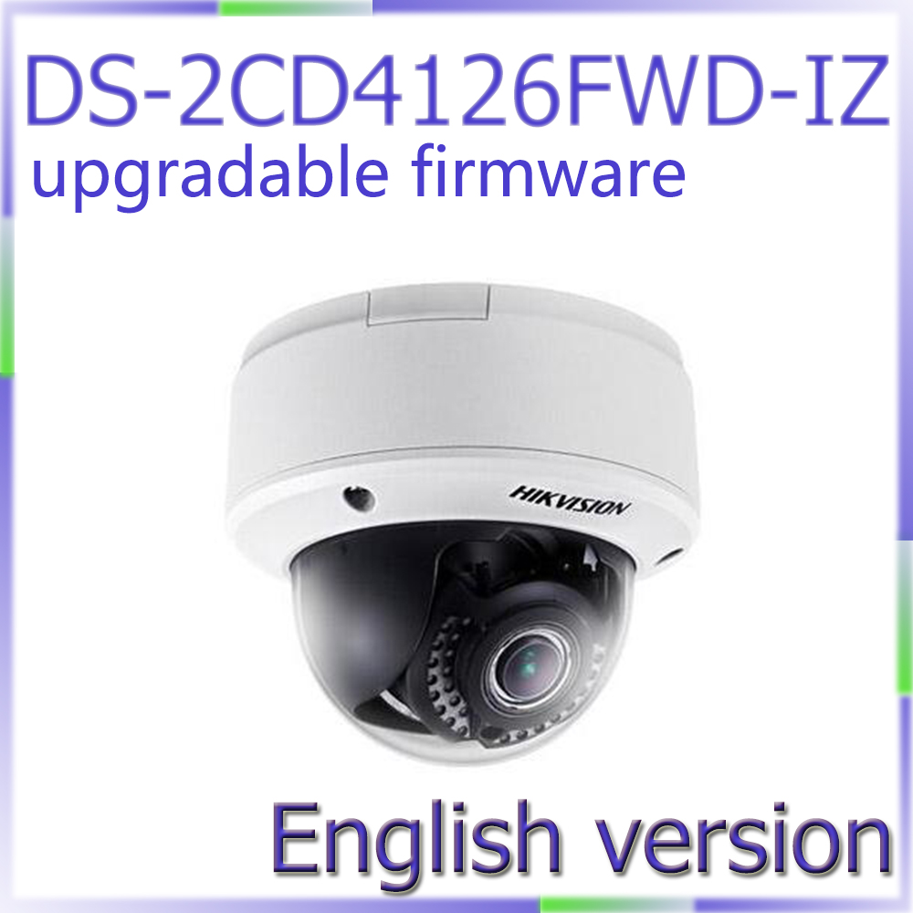 Free shipping English Version DS-2CD4126FWD-IZ Full HD1080p video 2MP Low Light Smart Camera Motorized lens with Smart Focus свитшот alcott fe8729dofw15 black
