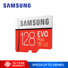 SAMSUNG Memory Card EVO Plus 32GB 64GB Micro SD Card 128GB TF C10 U3 UHS-I 4K Flash Memory for
