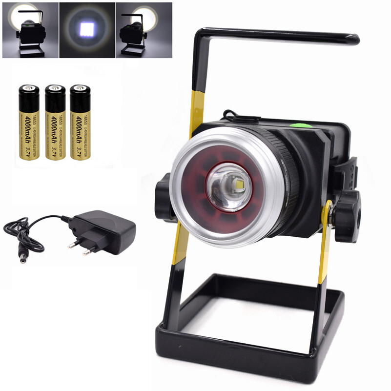 20W Outdoor LED lighting Portable Light 18650 Rechargeable T6 LED Floodlight Camping Hunting lamps
