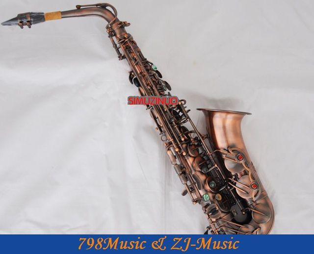 Professionelle Rote Antike Altsaxophon 54 Referenz Saxophon Abalone ...